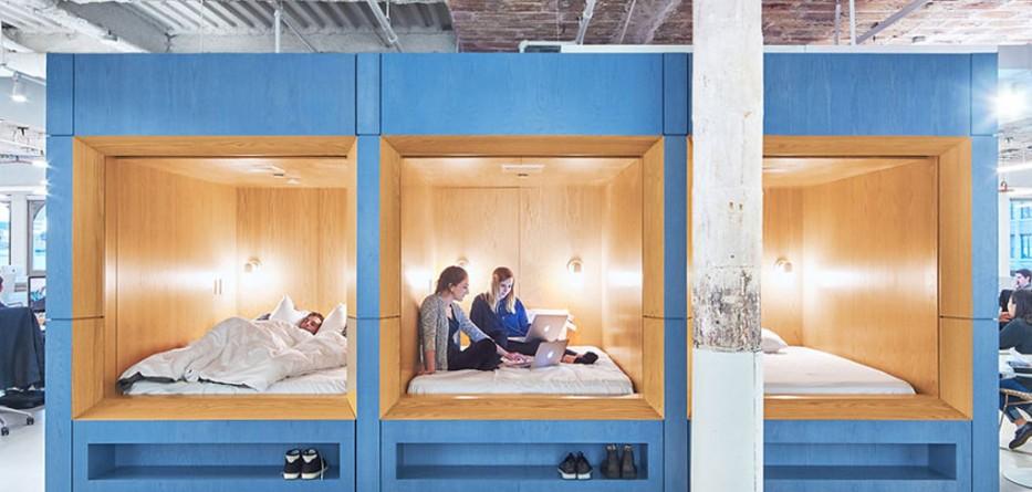 Float Studio Creates Sleeping Spaces at Bedding pany's