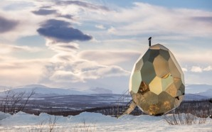 Gigantic Golden Egg Sauna Warms Up Residents of Sweden's Northernmost…