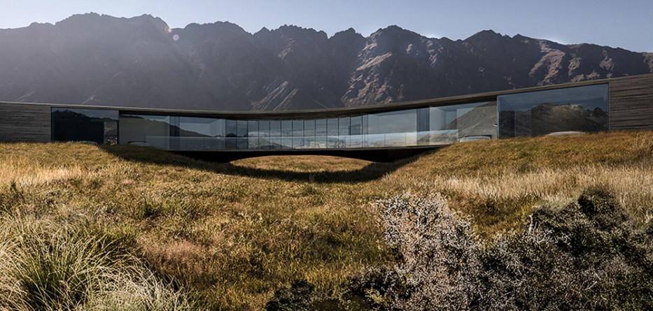 Queenstown house by monk mackenzie architects hovers above for Landscape architecture new zealand