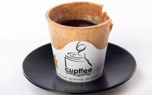 'Cupffee' Stays Intact While It Holds A Hot Beverage