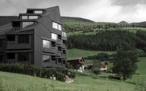 This Modern Hiking Hotel Blends Into The Dark Alpine Forests…