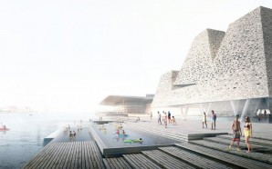 Kengo Kuma To Build Aquatics Centre And Harbour Bath In…
